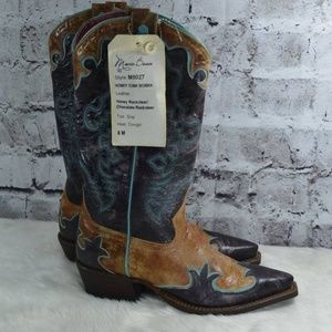 Macie Bean Honky Tonk Leather Cowgirl Boots NEW